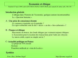 Economie et éthique