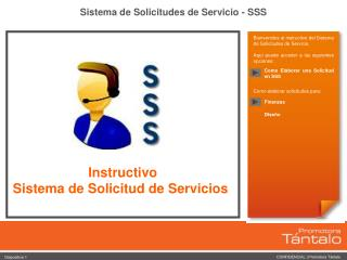 Sistema de Solicitudes de Servicio - SSS