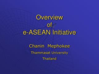 Overview of e-ASEAN Initiative