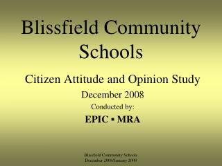 Blissfield Community Schools
