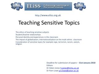 Teaching Sensitive Topics