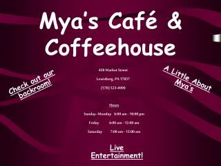 Mya's Café & Coffeehouse