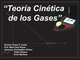"""""""Teoría Cinética  de los Gases"""""""