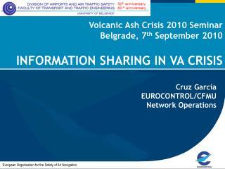 Volcanic Ash Crisis 2010 Seminar  Belgrade, 7 th  September 2010 INFORMATION SHARING IN VA CRISIS