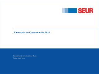 Calendario de Comunicaci�n 2010