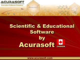 Scientific & Educational Software  by Acurasoft  CANADA