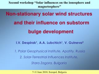 Non-stationary solar wind structures and their influence on substorm bulge development�