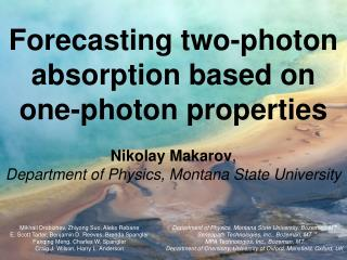 Forecasting two-photon absorption based on one-photon properties
