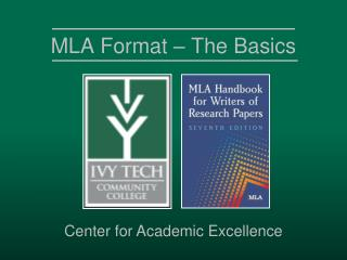 MLA Format � The Basics