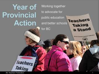 Year of Provincial Action