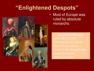 Enlightened Despots