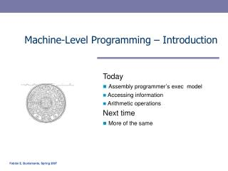 Machine-Level Programming � Introduction