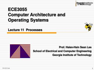 ECE3055  Computer Architecture and Operating Systems Lecture 11  Processes