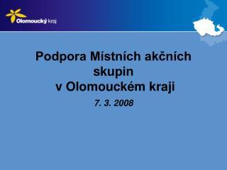 Podpora Místních akčních skupin  v Olomouckém kraji