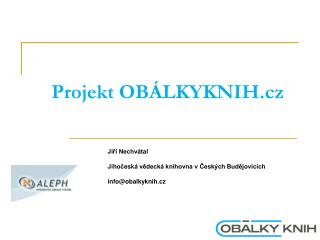 Projekt OBÁLKYKNIH.cz
