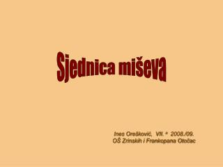 Ines Orešković,  VII.  a   2008./09. OŠ Zrinskih i Frankopana Otočac