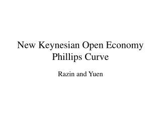 New Keynesian Open Economy Phillips Curve