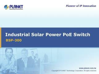 Industrial Solar Power PoE Switch