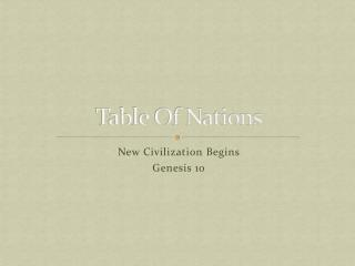 Table Of Nations