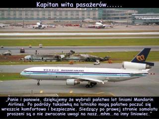 Kapitan wita pasażerów ......