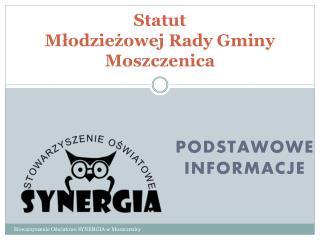Statut  Młodzieżowej Rady Gminy Moszczenica