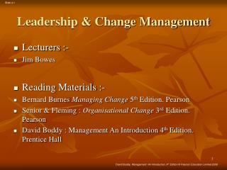 Leadership & Change Management