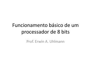 Funcionamento básico de um processador de 8 bits
