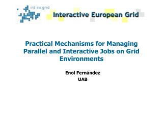 Practical Mechanisms for Managing Parallel and Interactive Jobs on Grid Environments