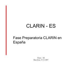 CLARIN - ES