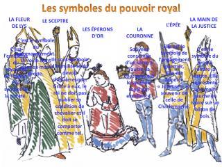 Les symboles du pouvoir royal