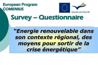 European Program C OMENIUS