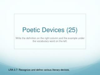 Poetic Devices (25)
