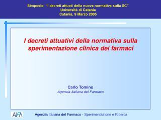 Carlo Tomino Agenzia Italiana del Farmaco
