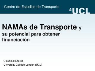 NAMAs de Transporte  y su potencial para obtener financiación