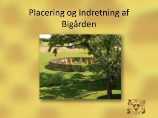 Placering og Indretning af Bigården