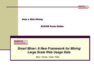 Data e Web Mining  825368 Paolo Gobbo