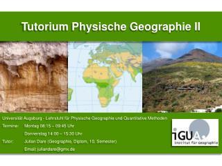 Tutorium Physische Geographie  II