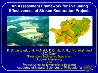 An Assessment Framework for Evaluating Effectiveness of Stream Restoration Projects