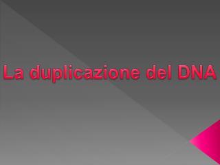 La duplicazione del DNA
