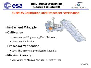 GOMOS Calibration and Processor Verification