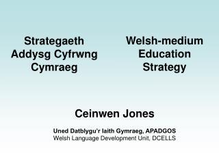 Strategaeth Addysg Cyfrwng Cymraeg