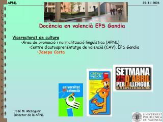 Docència en valencià EPS Gandia