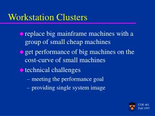 Workstation Clusters