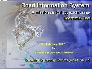 Road Information System A mission critical approach using-  Geospatial Tool