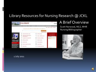 Library Resources for Nursing Research @ JCKL