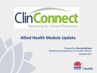 Allied Health Module Update