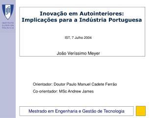 Inovação em Autointeriores: Implicações para a Indústria Portuguesa
