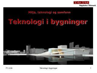 Teknologi i bygninger