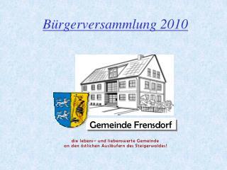 Bürgerversammlung 2010