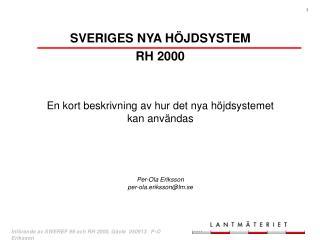 SVERIGES NYA HÖJDSYSTEM RH 2000
